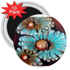 Fall Flowers No  2 3  Magnets (10 Pack)  by timelessartoncanvas
