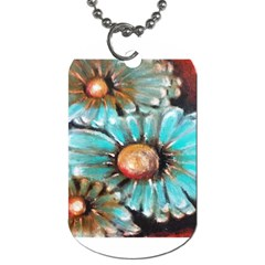 Fall Flowers No  2 Dog Tag (two Sides) by timelessartoncanvas