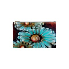 Fall Flowers No  2 Cosmetic Bag (small)  by timelessartoncanvas
