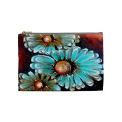 Fall Flowers No  2 Cosmetic Bag (medium)  by timelessartoncanvas
