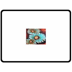 Fall Flowers No  2 Fleece Blanket (large)  by timelessartoncanvas