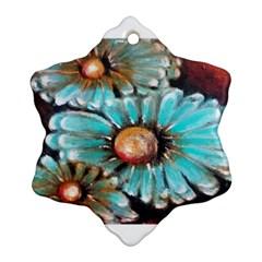 Fall Flowers No. 2 Snowflake Ornament (2-Side)