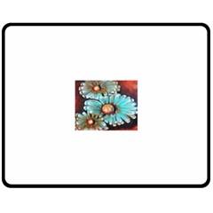 Fall Flowers No  2 Double Sided Fleece Blanket (medium)  by timelessartoncanvas