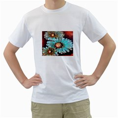 Fall Flowers No  2 Men s T Shirt (white)  by timelessartoncanvas