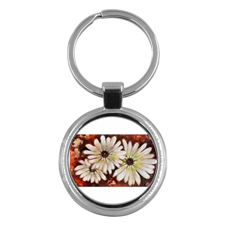 Fall Flowers No. 3 Key Chains (Round)