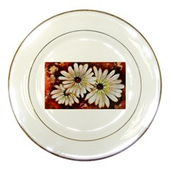 Fall Flowers No  3 Porcelain Plates by timelessartoncanvas