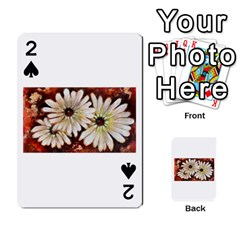 Fall Flowers No. 3 Playing Cards 54 Designs  by timelessartoncanvas