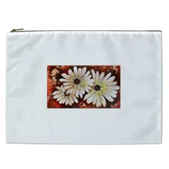 Fall Flowers No  3 Cosmetic Bag (xxl)  by timelessartoncanvas