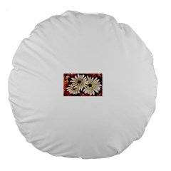 Fall Flowers No  3 Large 18  Premium Flano Round Cushions by timelessartoncanvas