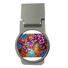 Fall Flowers No  5 Money Clips (round)  by timelessartoncanvas