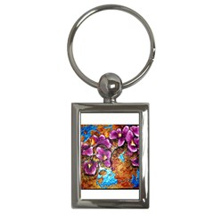 Fall Flowers No  5 Key Chains (rectangle)  by timelessartoncanvas
