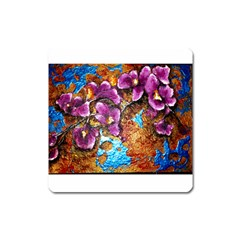 Fall Flowers No  5 Square Magnet by timelessartoncanvas