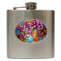 Fall Flowers No  5 Hip Flask (6 Oz) by timelessartoncanvas