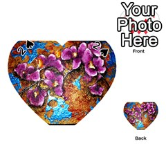 Fall Flowers No  5 Playing Cards 54 (heart)  by timelessartoncanvas