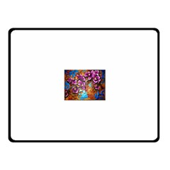 Fall Flowers No  5 Fleece Blanket (small) by timelessartoncanvas