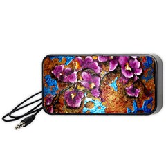 Fall Flowers No  5 Portable Speaker (black)  by timelessartoncanvas