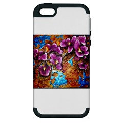 Fall Flowers No  5 Apple Iphone 5 Hardshell Case (pc+silicone) by timelessartoncanvas