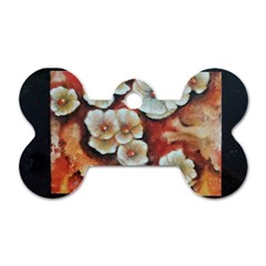 Fall Flowers No  6 Dog Tag Bone (one Side) by timelessartoncanvas