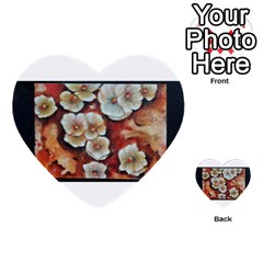 Fall Flowers No  6 Multi Purpose Cards (heart)