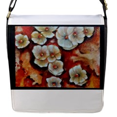 Fall Flowers No  6 Flap Messenger Bag (s) by timelessartoncanvas