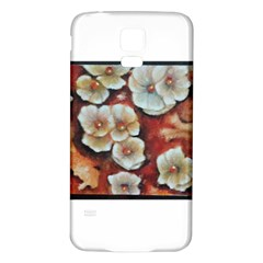 Fall Flowers No. 6 Samsung Galaxy S5 Back Case (White) by timelessartoncanvas
