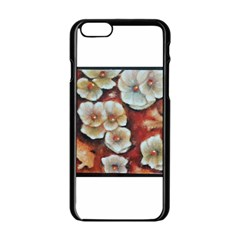 Fall Flowers No  6 Apple Iphone 6 Black Enamel Case by timelessartoncanvas
