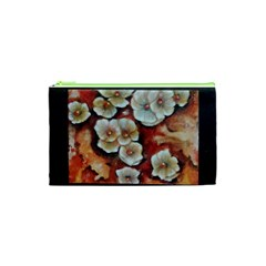 Fall Flowers No  6 Cosmetic Bag (xs) by timelessartoncanvas