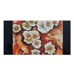 Fall Flowers No  6 Satin Shawl by timelessartoncanvas