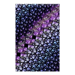 Dusk Blue and Purple Fractal Shower Curtain 48  x 72  (Small) by KirstenStar