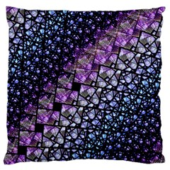 Dusk Blue and Purple Fractal Standard Flano Cushion Case (One Side) by KirstenStar