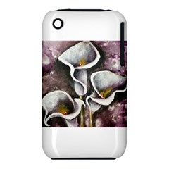Gala Lilies Apple Iphone 3g/3gs Hardshell Case (pc+silicone)