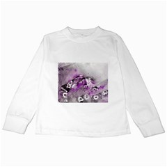 Shades of Purple Kids Long Sleeve T-Shirts