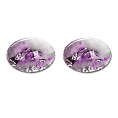 Shades Of Purple Cufflinks (oval) by timelessartoncanvas