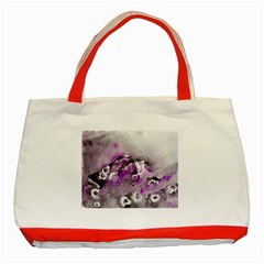 Shades Of Purple Classic Tote Bag (red)  by timelessartoncanvas