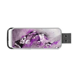 Shades of Purple Portable USB Flash (Two Sides) by timelessartoncanvas
