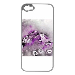 Shades Of Purple Apple Iphone 5 Case (silver) by timelessartoncanvas