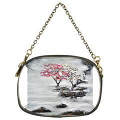 Mountains, Trees And Fog Chain Purses (two Sides)  by timelessartoncanvas