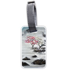 Mountains, Trees And Fog Luggage Tags (two Sides) by timelessartoncanvas