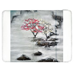 Mountains, Trees And Fog Samsung Galaxy Tab 7  P1000 Flip Case by timelessartoncanvas
