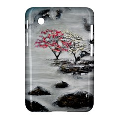 Mountains, Trees And Fog Samsung Galaxy Tab 2 (7 ) P3100 Hardshell Case  by timelessartoncanvas