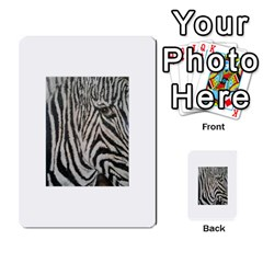 Unique Zebra Design Multi Purpose Cards (rectangle)