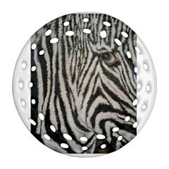 Unique Zebra Design Round Filigree Ornament (2side) by timelessartoncanvas