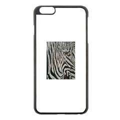 Unique Zebra Design Apple Iphone 6 Plus Black Enamel Case by timelessartoncanvas