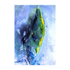 Bright Yellow And Blue Abstract Shower Curtain 48  X 72  (small)