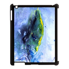 Bright Yellow And Blue Abstract Apple Ipad 3/4 Case (black) by timelessartoncanvas
