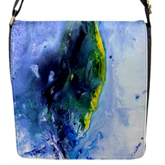 Bright Yellow And Blue Abstract Flap Messenger Bag (s) by timelessartoncanvas