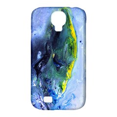 Bright Yellow And Blue Abstract Samsung Galaxy S4 Classic Hardshell Case (pc+silicone) by timelessartoncanvas