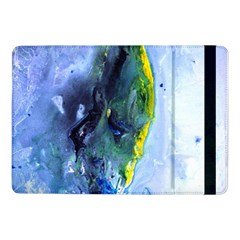 Bright Yellow And Blue Abstract Samsung Galaxy Tab Pro 10 1  Flip Case by timelessartoncanvas