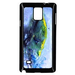 Bright Yellow And Blue Abstract Samsung Galaxy Note 4 Case (black) by timelessartoncanvas