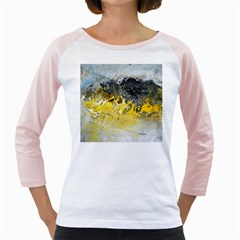 Bright Yellow Abstract Girly Raglans by timelessartoncanvas